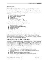 MAINTENANCE PROGRAM Greenville Stormwater Management ...