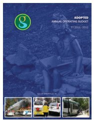 FY 2011-12 Adopted Budget - City of Greenville