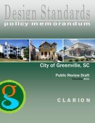 Design Standards Policy Memorandum - Greenville