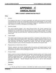 Financial Policies - Greenville