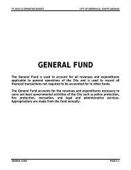 GENERAL FUND - Greenville