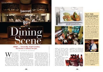 View the Wine+Dine article - City of Greenville