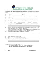 Peddlers Application - Greenville