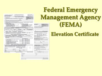 FEMA Elevation Certificate - City of Greenville