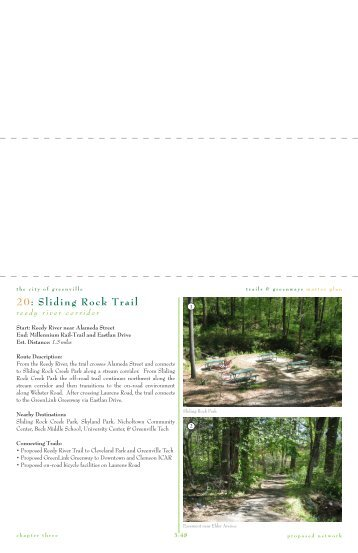 20: Sliding Rock Trail - City of Greenville