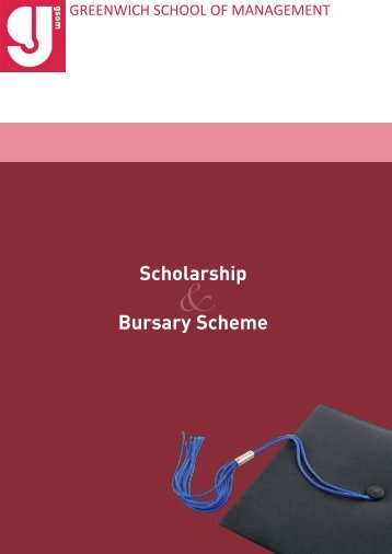 Scholarship and Bursaries Brochure - Greenwich School of ...