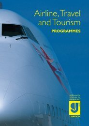 Airline, Travel and Tourism - Greenwich School of Management