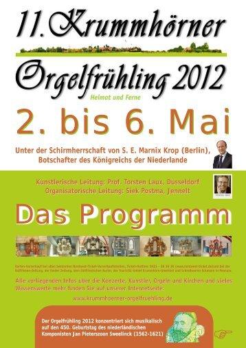 KOF 2012 Programm - Krummhörn-Greetsiel