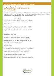 Ev.-ref. Kirche Pilsum - Freitag, 4. Mai 2012 - 20.00 Uhr ... - Greetsiel