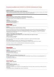 Programm Gesundheitswoche 03.09.2012 bis 09.09.2012 ...