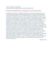 Texte von Barbara Fischer Emden, die den diesjährigen ...