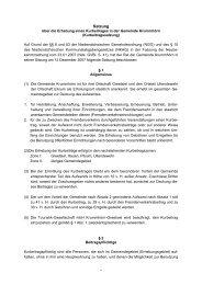 Satzung über die Erhebung eines Kurbeitrages - Krummhörn-Greetsiel