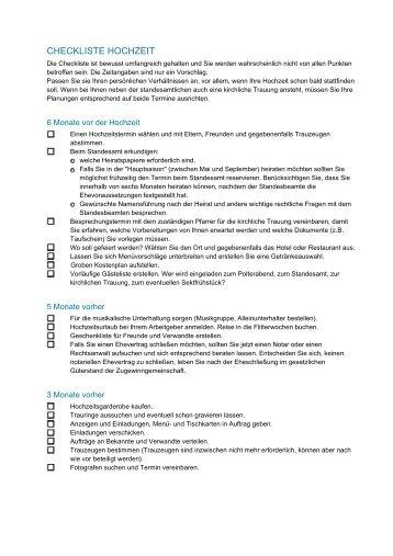 Checkliste hochzeit at