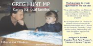 Greg Hunt MP - Caring for local families