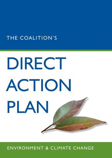 THE COALITIONS dIrECT ACTION pLAN - Greg Hunt
