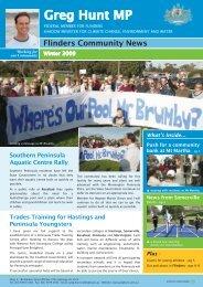 Flinders Community News - Greg Hunt