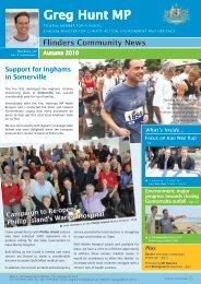 Flinders Community News - Greg Hunt MP