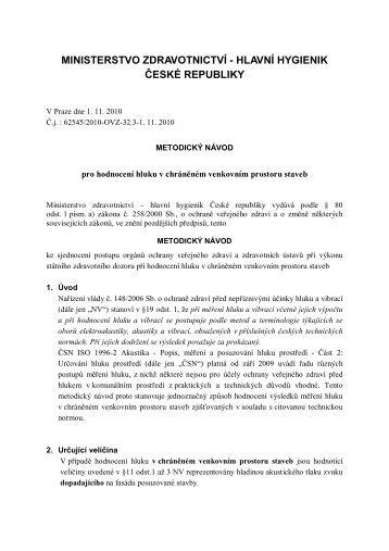 Metodický návod pro hodnocení hluku v chráněném ... - NRL.cz