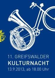 Kulturnacht - Hansestadt Greifswald