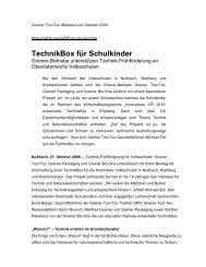 TechnikBox für Schulkinder - Greiner Extrusions Technik