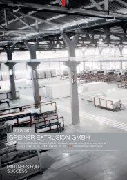 Greiner Extrusion Plant Engineering eng - Greiner Extrusions Technik