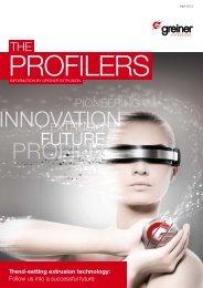 the profilers 1-2013 - Greiner Extrusions Technik