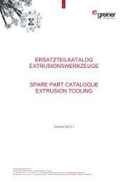 ersatzteilkatalog extrusionswerkzeuge spare part catalogue ...