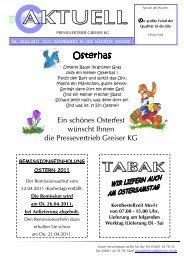 Osterhas - Pressevertrieb Greiser KG