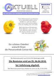 Rundschreiben 10-03-31 - Pressevertrieb Greiser KG