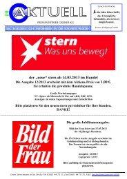 """der """"neue"""" stern ab 14.03.2013 im Handel - Pressevertrieb Greiser KG"""