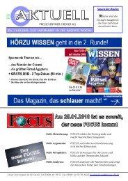 PRESSEVERTRIEB GREISER KG Do, 21.01.2010 GUT ...