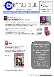 UEFA EURO 2012 Polen - Ukraine - Pressevertrieb Greiser KG