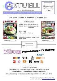 Die Non-Press Abteilung bietet an: - Pressevertrieb Greiser KG