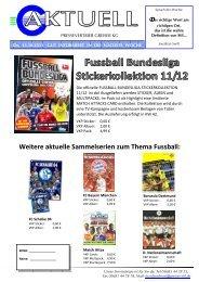 Weitere aktuelle Sammelserien zum Thema Fussball: