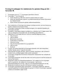 Forslag til vedtægter ved stiftende årsmøde - Grenaa Gymnasium