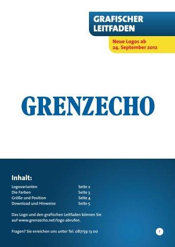 Grafischer Leitfaden - GRENZECHO.net