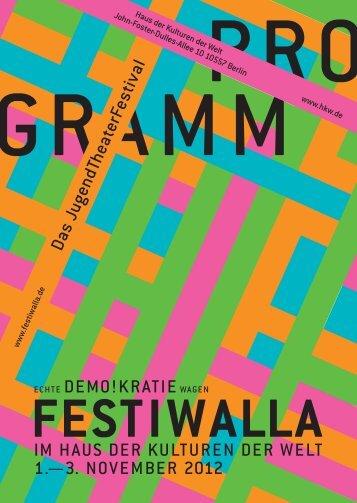 Programm des FESTIWALLA 2012 zum Download - Grenzen-Los!