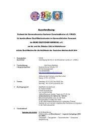 Ausschreibung Hückelhofen 2013 - Verband der Karnevalsvereine ...