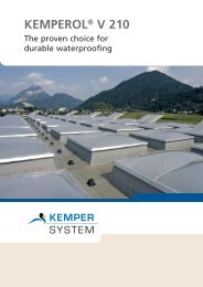 KEMPEROL® V 210 – Advantages at a glance - KEMPER SYSTEM
