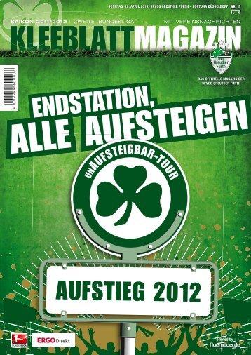 Nr. 17 Fortuna Düsseldorf 29.04.2012 - SpVgg Greuther Fürth