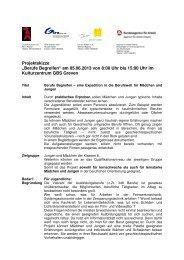 Berufe begreifen 2013 Projektskizze