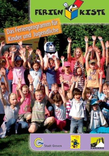 Das Ferienkisten-Programm für die Sommerferien 2013 - Stadt Greven
