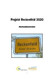 Abschlussdokumentation Reckenfeld 2020 - Stadt Greven