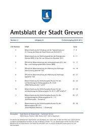 Amtsblatt Nr. 02/2013 - Stadt Greven