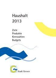 Teilergebnispläne 2013 - Stadt Greven