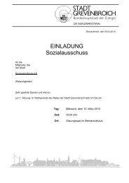 Einladung mit Anlagen (PDF, 1.292 KB) - Stadt Grevenbroich