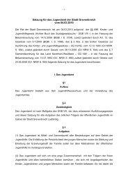 Satzung für das Jugendamt der Stadt Grevenbroich vom 04.03.2010