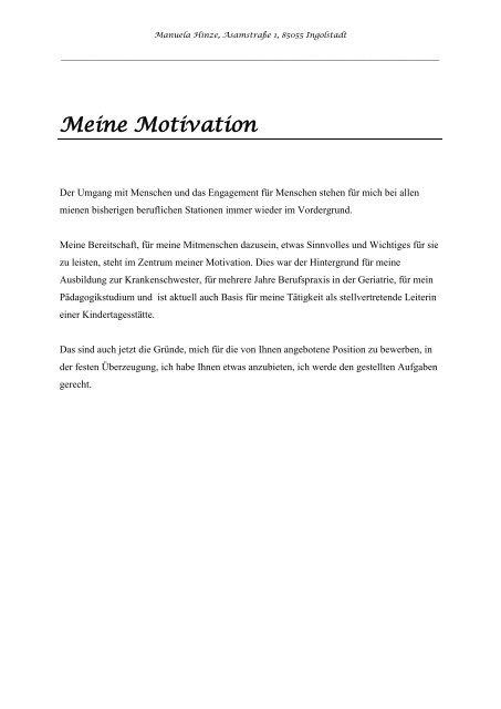 Die Sogenannte Dritte Seite Deine Motivationsseite
