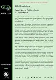 Press Release - Regional Office of North America - UNEP