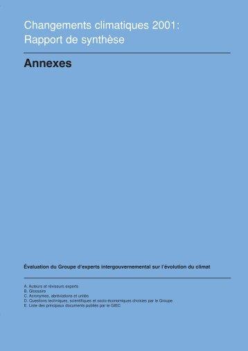 Annexes - IPCC